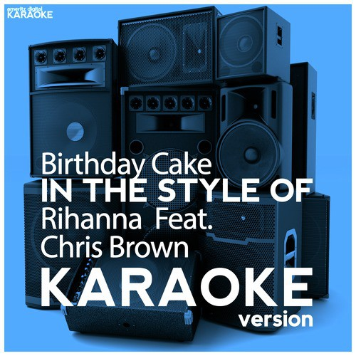 Amazing Birthday Cake In The Style Of Rihanna Chris Brown Karaoke Funny Birthday Cards Online Alyptdamsfinfo