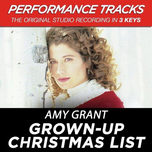 My Grownup Christmas List Lyrics.Grown Up Christmas List Performance Track In Key Of B