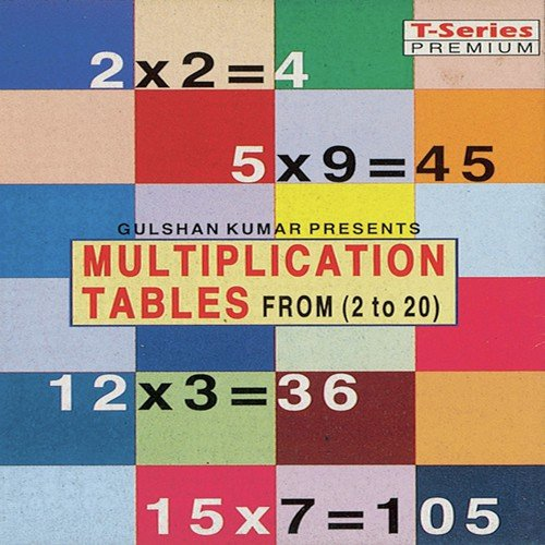 Multiplication Tables Form 2 To 20 Paro Rajesh Bhalla